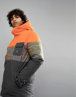 Billabong Оранжевая зимняя куртка Tribong. Цвет: оранжевый
