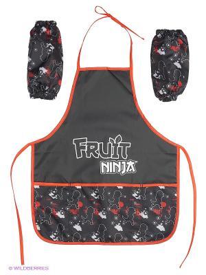 Фартук для детского творчества с нарукавниками Fruit Ninja Action!. Цвет: черный