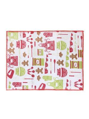 Полотенце для сушки посуды Dream time. Цвет: белый, коралловый