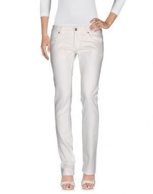 Джинсовые брюки CESARE PACIOTTI 4US. Цвет: слоновая кость