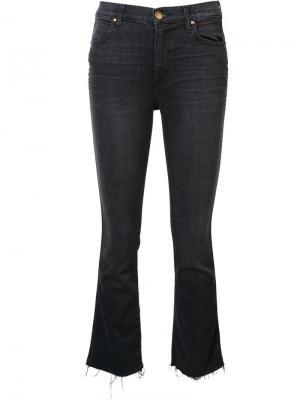 Укороченные джинсы The Great. Цвет: чёрный