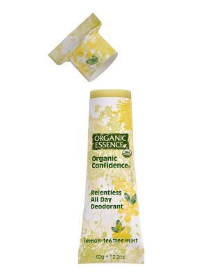 Органический дезодорант, Лимон и Масло Чайного Дерева 62 гр Organic Essence. Цвет: кремовый