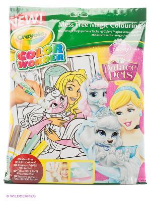 Набор раскраска и фломастеры Принцессы Color Wonder Crayola. Цвет: желтый