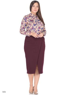 Блузка BARTELLI. Цвет: бежевый, фиолетовый