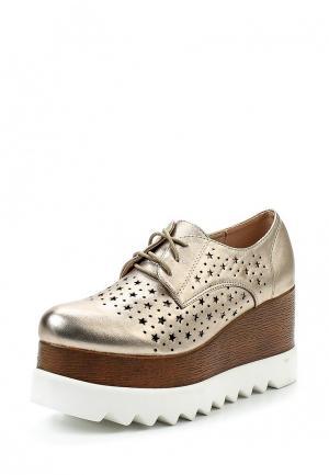 Ботинки Sweet Shoes. Цвет: золотой