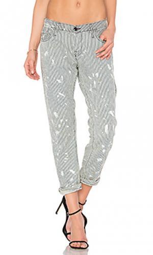 Узкие укороченные брюки NSF. Цвет: серый