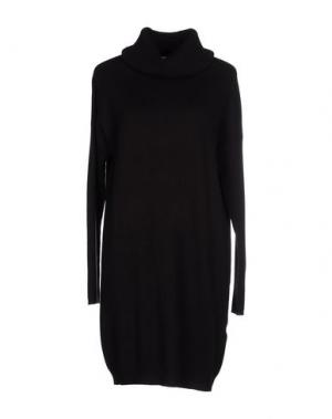 Короткое платье CA' VAGAN. Цвет: темно-коричневый