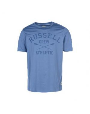 Футболка RUSSELL ATHLETIC. Цвет: грифельно-синий