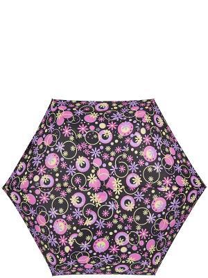 Зонт Labbra. Цвет: черный, желтый, лиловый, фиолетовый