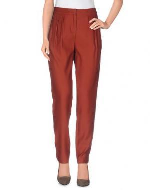 Повседневные брюки E-GÓ. Цвет: коричневый