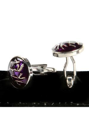 Запонки Franco Frego. Цвет: фиолетовый