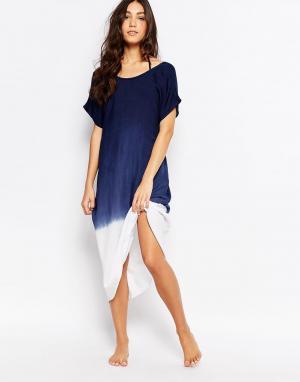 Akasa Пляжное платье макси. Цвет: blue ombre