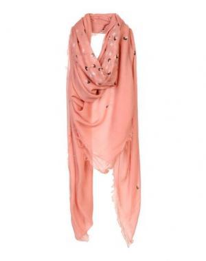 Платок EMPORIO ARMANI. Цвет: лососево-розовый