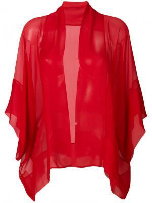 Прозрачный пиджак мешковатого кроя Alberta Ferretti. Цвет: красный