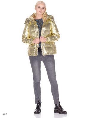 Куртка LIU JO. Цвет: золотистый