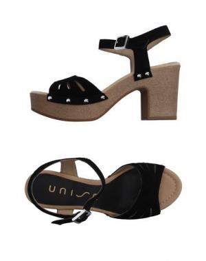 Сандалии UNISA. Цвет: черный