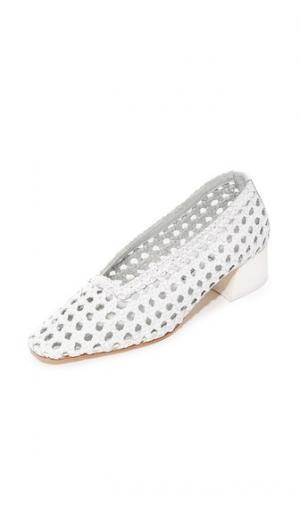 Туфли-лодочки Taissa Miista. Цвет: простой белый