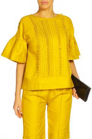 Блуза ZHOR&NEMA. Цвет: желтый