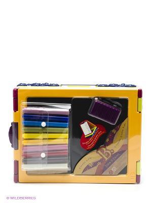 Складной мольберт для рисования с фломастерами и мелками. Battat. Цвет: желтый, салатовый, фиолетовый, оранжевый, розовый