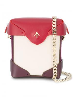 Микро-сумка на плечо Pristine Manu Atelier. Цвет: красный