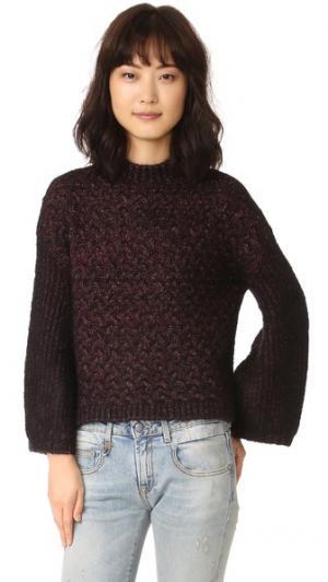 Объемный свитер Intropia. Цвет: бордовый