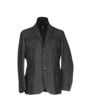 Куртка LUIGI BIANCHI Mantova. Цвет: серый