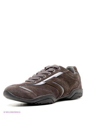 Кроссовки GEOX. Цвет: коричневый, темно-коричневый