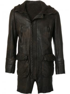 Пальто на молнии Salvatore Santoro. Цвет: коричневый