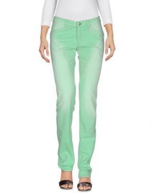 Джинсовые брюки CARLO CHIONNA. Цвет: светло-зеленый