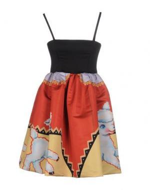 Короткое платье LEITMOTIV. Цвет: оранжевый