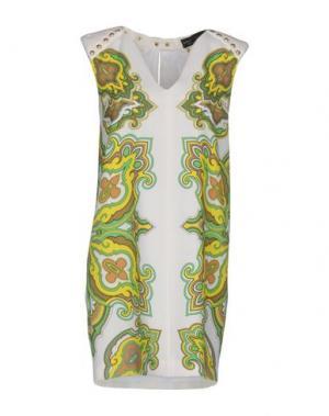 Короткое платье MANUEL LUCIANO. Цвет: белый