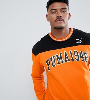 Puma Свитер с круглым вырезом. Цвет: оранжевый