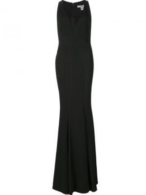 Платье с V-образным вырезом Zac Posen. Цвет: чёрный