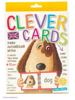 Учим английский играя. Уровень 3. Набор карточек АЙРИС-пресс. Цвет: белый, желтый