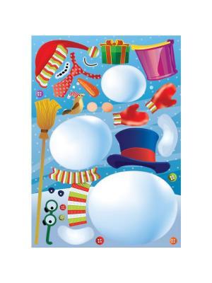 Набор наклеек  Снеговик-конструктор DECORETTO. Цвет: белый, зеленый, голубой, фиолетовый