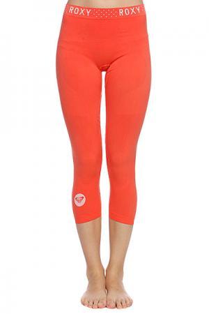 Термобелье (низ) женское  Seamless 3/4 Legging Hot Coral Roxy. Цвет: оранжевый