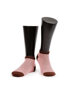 Носки короткие MARREY. Цвет: коричневый, бледно-розовый