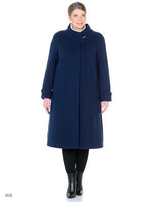 Пальто Amulet. Цвет: темно-синий