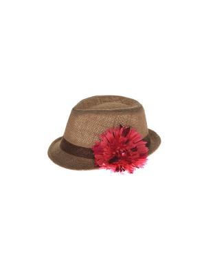 Шляпа Jane Flo. Цвет: коричневый