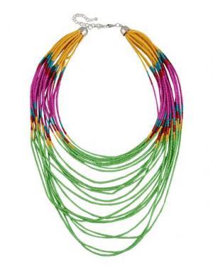 Ожерелье DETTAGLI. Цвет: зеленый