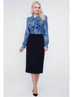Блузка VICTORIA VEISBRUT. Цвет: серо-голубой