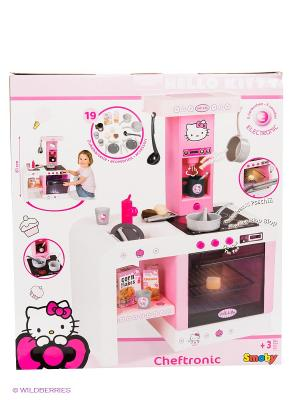 Кухня электронная Smoby. Цвет: розовый, белый