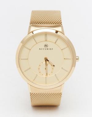 Accurist Классические золотистые часы из нержавеющей стали. Цвет: золотой