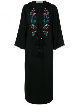 Платье-туника с капюшоном Veronique Branquinho. Цвет: чёрный