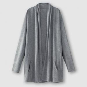Кардиган длинный R édition. Цвет: серый меланж,синий морской,черный