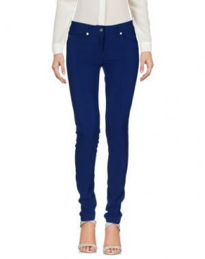 Повседневные брюки TUWE ITALIA. Цвет: синий