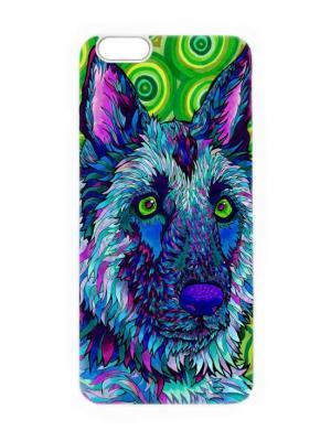 Чехол для iPhone 6 Синий волк Chocopony. Цвет: темно-синий, темно-зеленый, голубой
