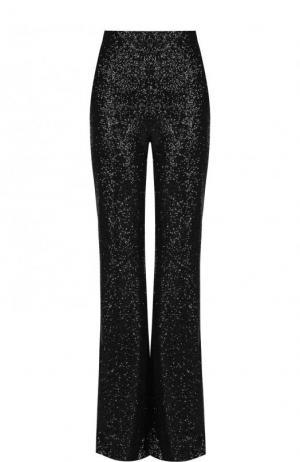 Однотонные расклешенные брюки с пайетками Elie Saab. Цвет: черный
