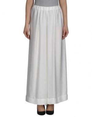 Повседневные брюки MARIA CALDERARA. Цвет: белый