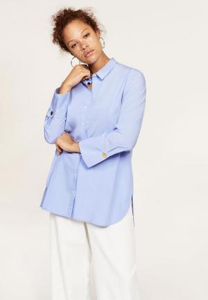 Рубашка Violeta by Mango. Цвет: голубой
